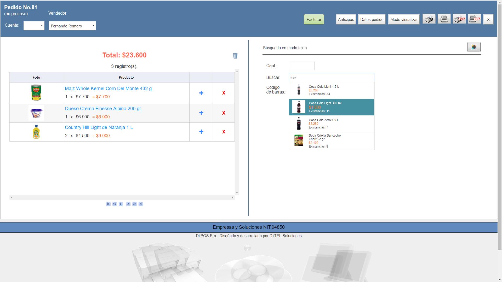 diitel soluciones desarrollo de software facturación inventario